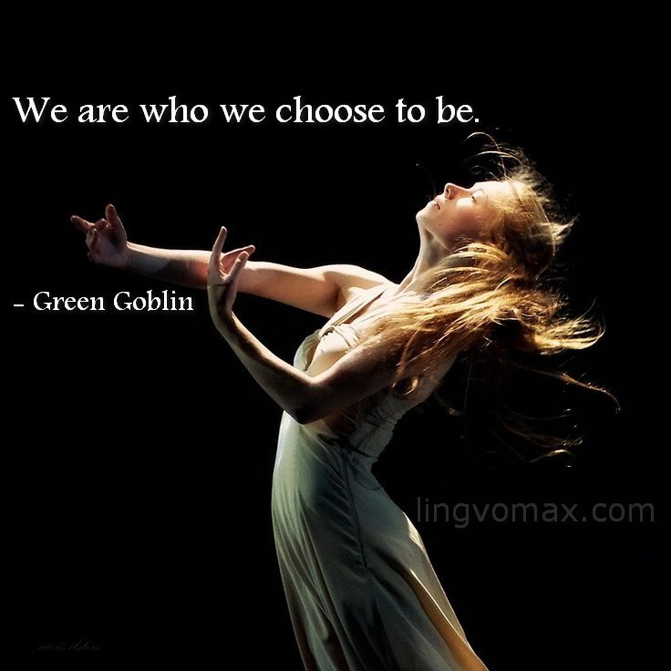 we choose